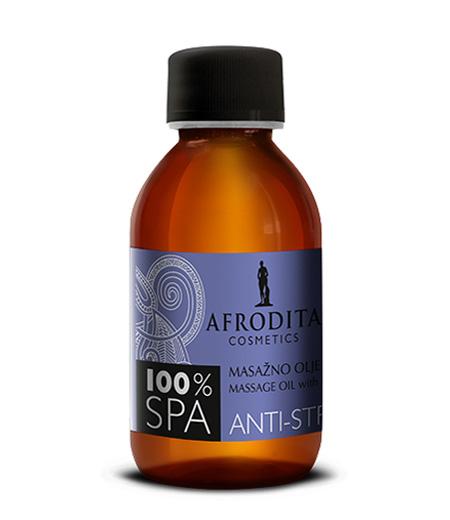 100% SPA Masažno olje ANTI-STRESS z lavando