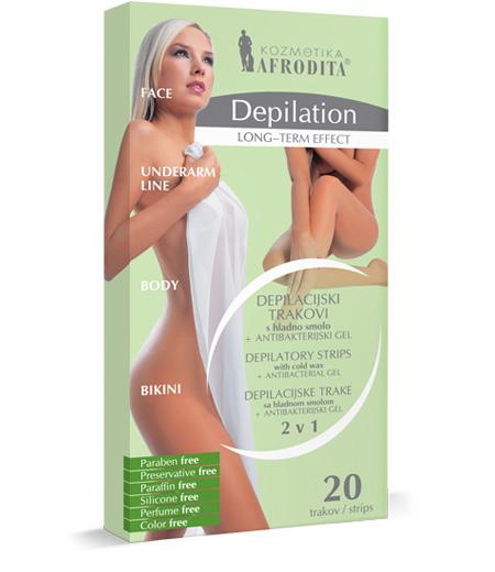 DEPILATION DEPILACIJSKI TRAKOVI S HLADNO SMOLO 2 v 1 + antibakterijski gel