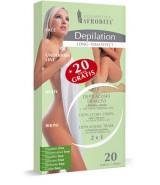 DEPILATION DEPILACIJSKI TRAKOVI S HLADNO SMOLO 2 v 1 + antibakterijski gel + 20 trakov gratis