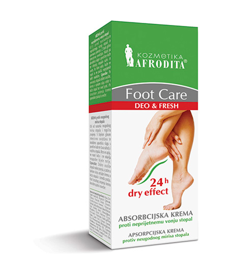 Foot Care Absorbcijska krema proti neprijetnemu vonju stopal