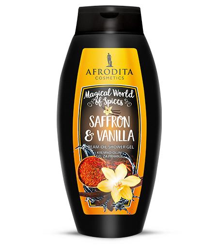 SAFFRON & VANILLA Kremno-oljni gel za prhanje
