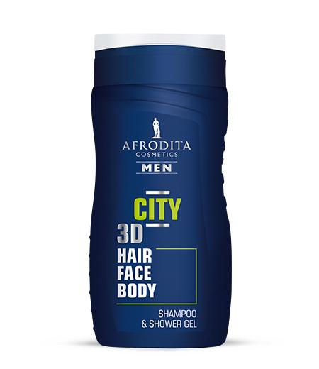 AFRODITA MEN CITY gel za šamponiranje in prhanje