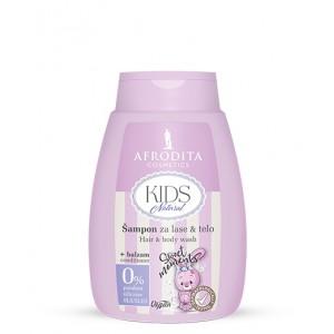 KIDS NATURAL Šampon za lase & telo + balzam