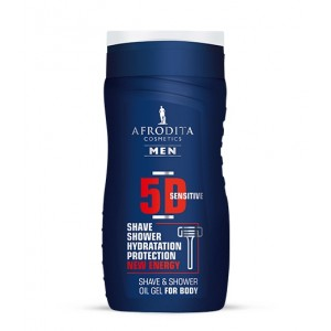 AFRODITA MEN 5D sensitive oljni gel za britje in prhanje