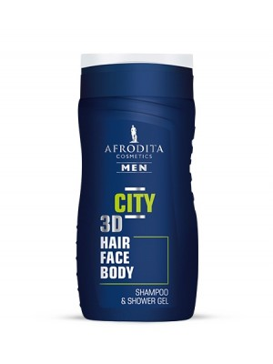 AFRODITA MEN CITY gel za šamponiranje in prhanje