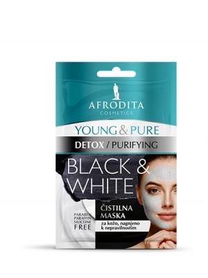 YOUNG & PURE BLACK & WHITE maska