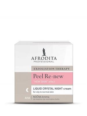 PEEL RE-NEW ''LIQUID CRYSTAL'' AHA NIGHT krema za mastno do normalno kožo