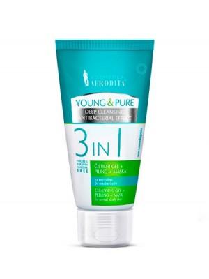 YOUNG & PURE Čistilni gel + piling + maska 3 in 1