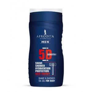 AFRODITA MEN 5D sensitive oljni gel za britje in prhanje